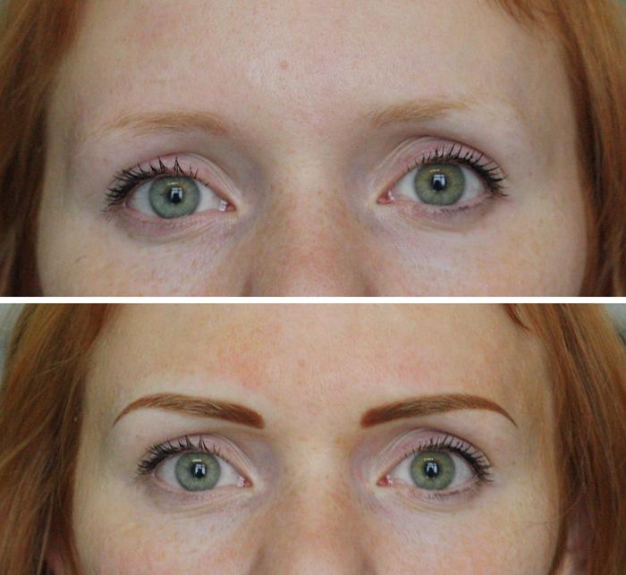 татуаж бровей растушевка фото до и после отзывы