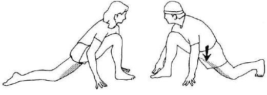 Упражнение четвертое. Растяжка мышц бедер.
