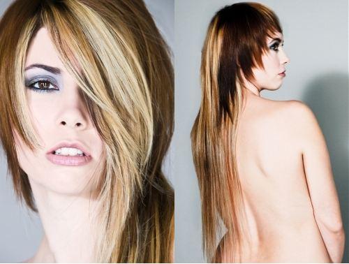 Стрижки фото на длинные волосы асимметрия