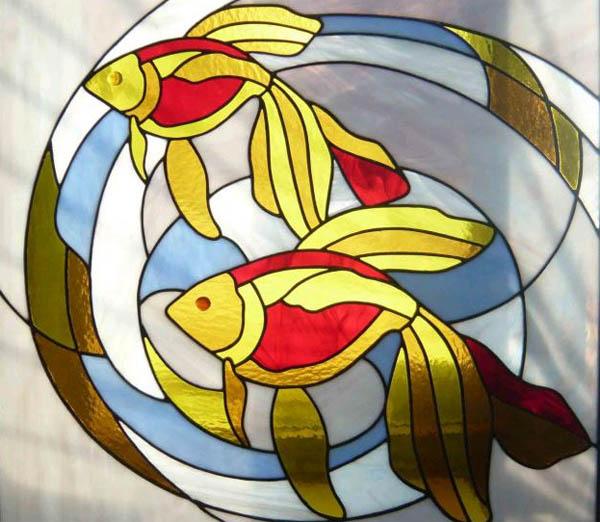 витраж рыбки