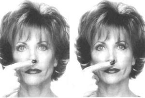 Упражнение для укорачивания носа