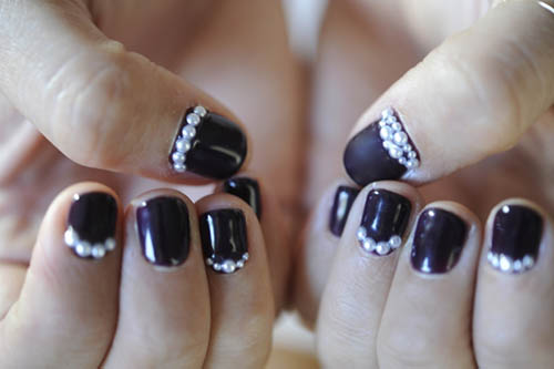 дизайн ногтей с камнями фото