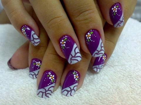 фиолетовый с белыми цветочками