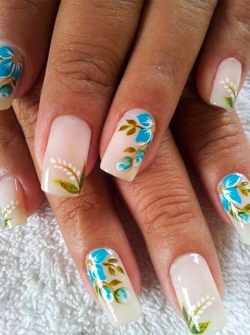 Цветы фото на ногтях гель лаком