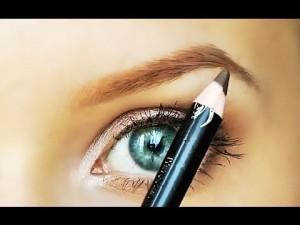 красить брови правильно карандашом