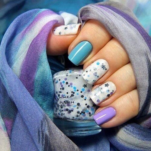 Дизайн ногтей натуральные камни 193