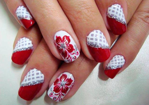 дизайн ногтей красный 2015