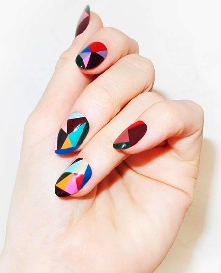 разноцветные геометрические узоры