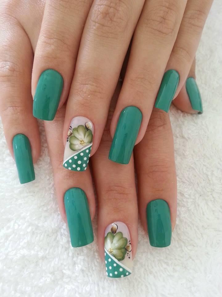 Дизайн ногтей зеленых