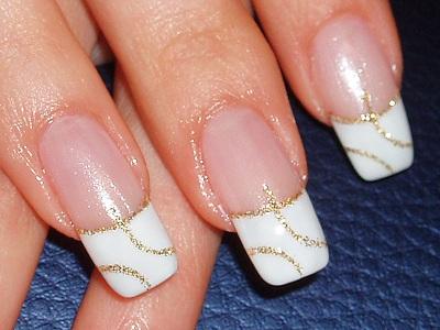 Дизайн ногтей «белый френч»