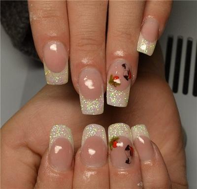 Дизайн ногтей френч в белом цвете