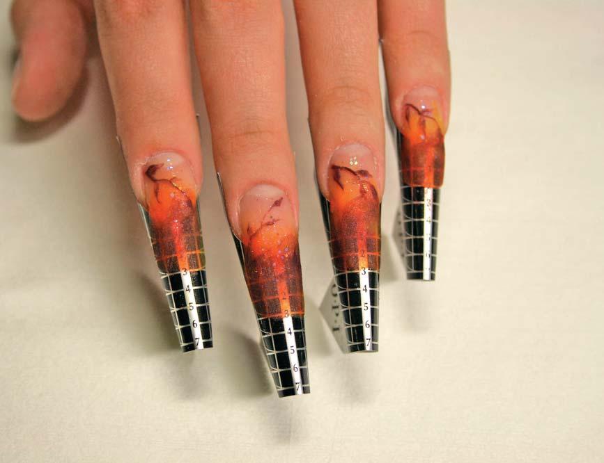 Наращивание ногтей гелем на формах фото