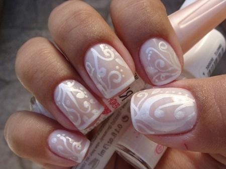 Свадебный маникюр фото на короткие ногти