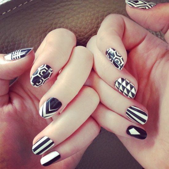 черно белые геометрические узоры