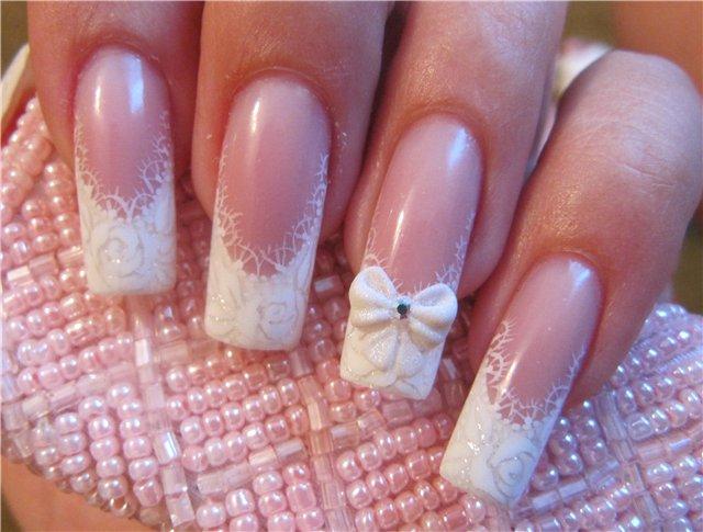 декор ногтей на свадьбу