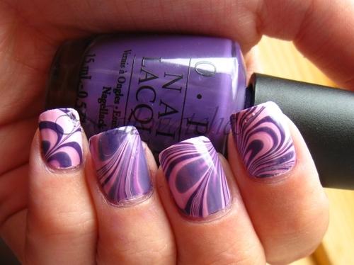 фиолетовые ногти фото