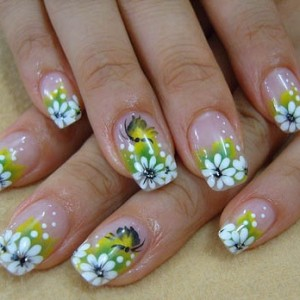 фото Дизайн летнего варианта нарощенных ногтей