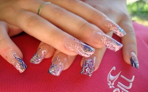 фото Френч-миллениум на нарощенных ногтях