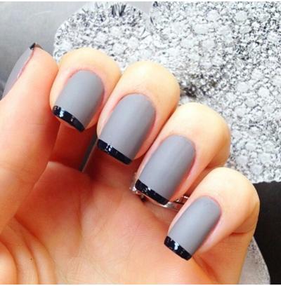 Дизайн серого цвета ногтей