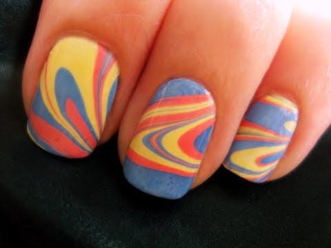 nail дизайн с голубыми элементами