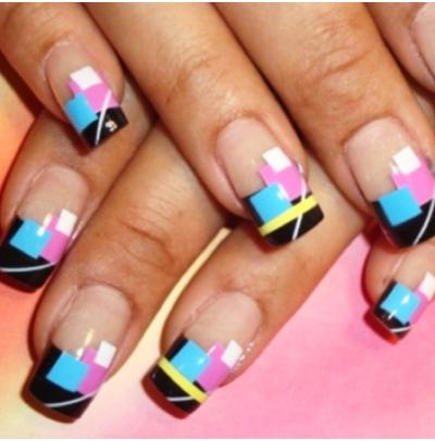 Дизайн ногти квадрат