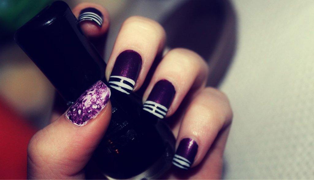 Простые изображения на ногтях