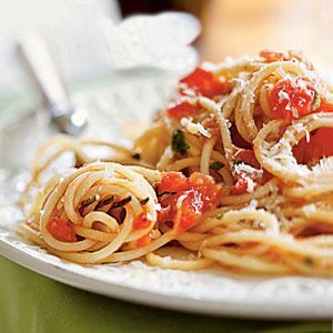 углеводный день спагетти с томатами