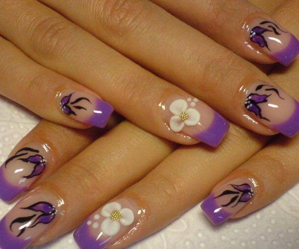 французский гелевые ногти фото