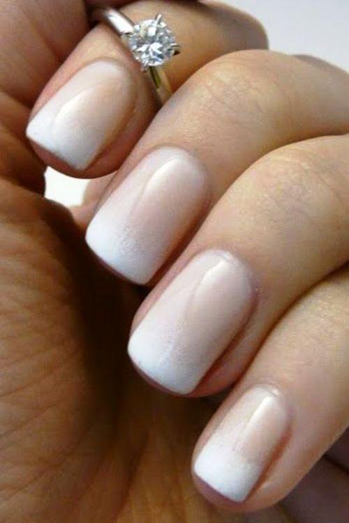 свадебный вариант гелевых ногтей