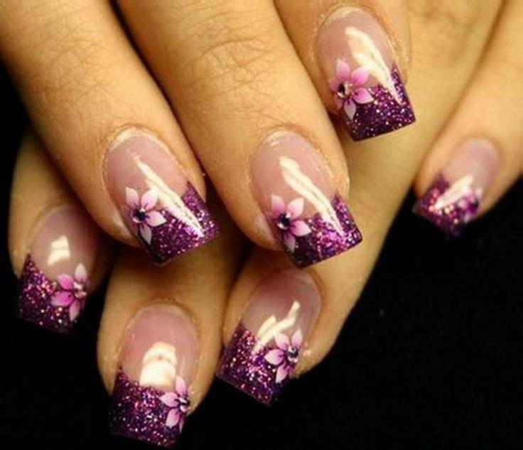 цветочки на гелевых ногтях