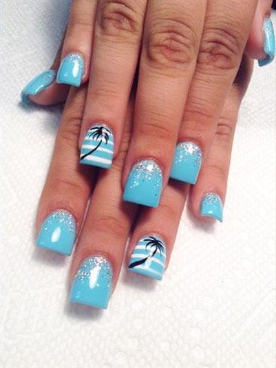 пальма на ногтях фото