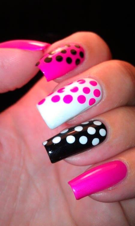 черно-белый и розовый