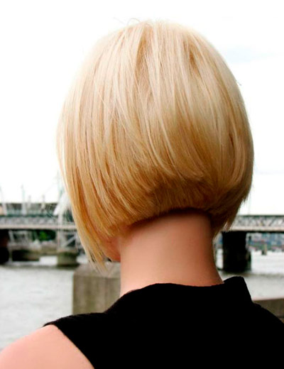Фото блондинок со спины с короткими волосами
