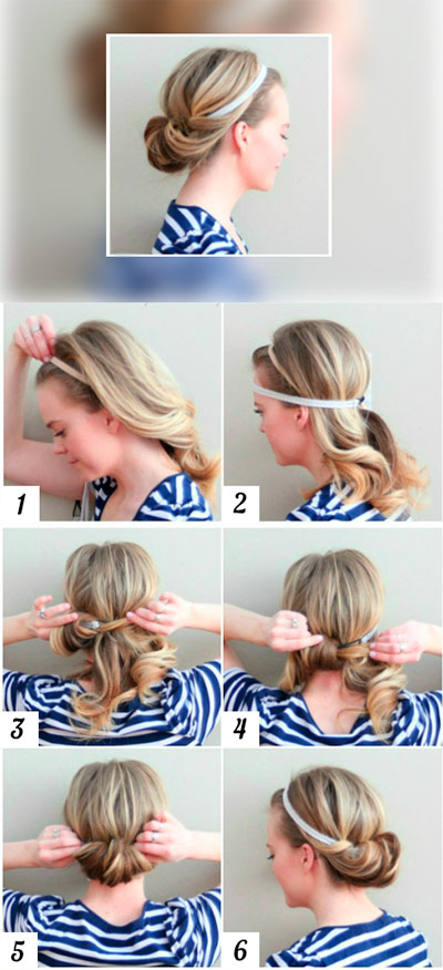 Greek hairstyle with bandage
