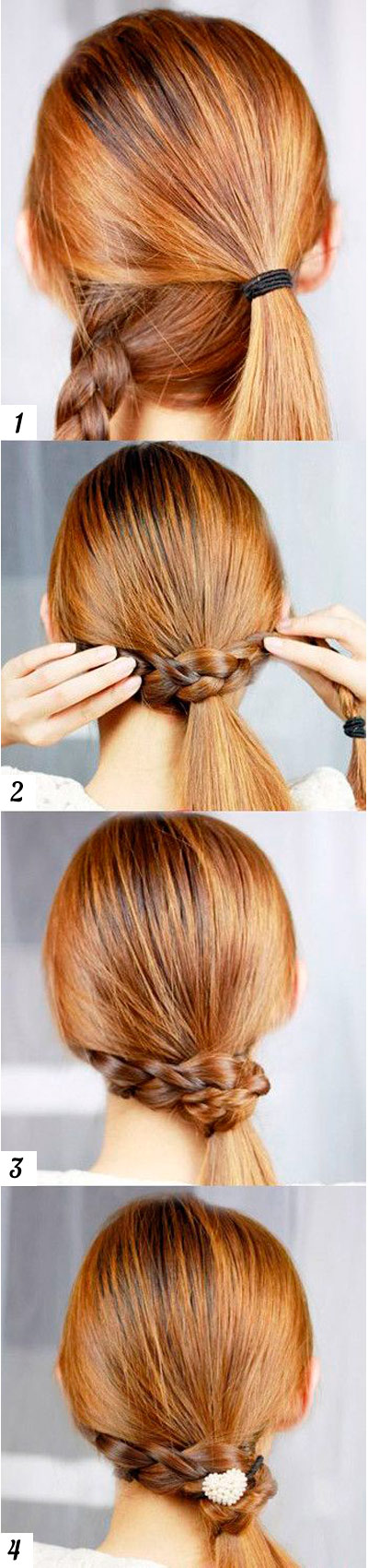 hairstyle to school Tail with a scythe