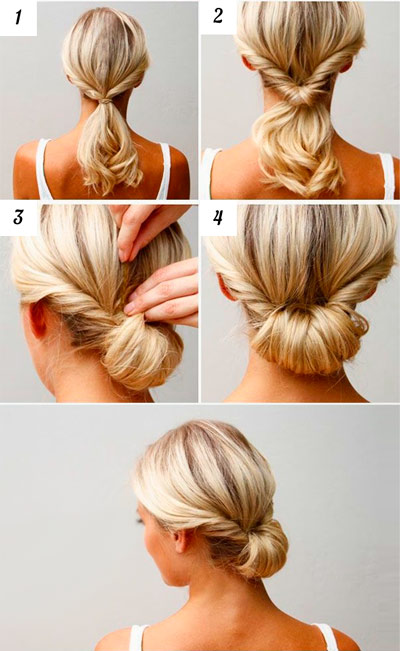 A simplified version of the Greek hairstyle