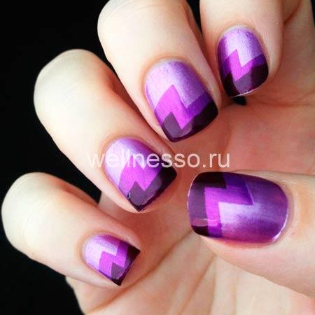 Веселый маникюр на короткие ногти