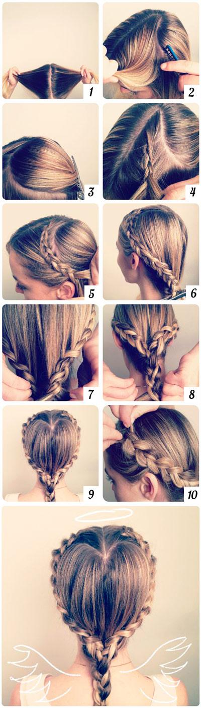 hairstyle braid heart
