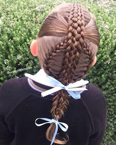 prazdnichnaya-kosa Прически на 1 сентября для девочек с 1 класс по 11 класс, фото