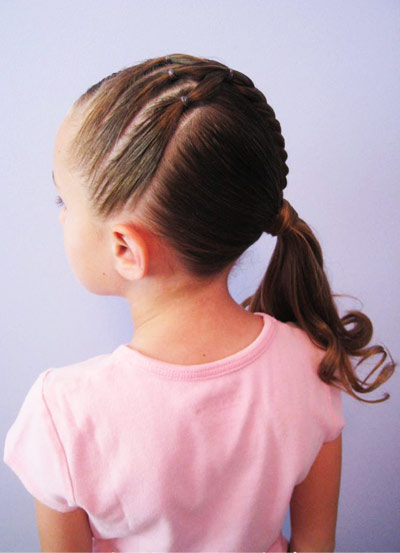 simple tail for a girl 8 years old