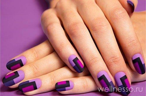 фото фигур на фиолетовых ногтях
