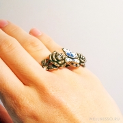 кольцо кастет с бабочкой