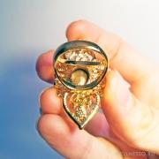 кольцо с синим кристаллом на торжество