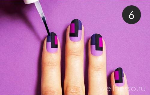нанесение прозрачной матовой основы на ногти фото