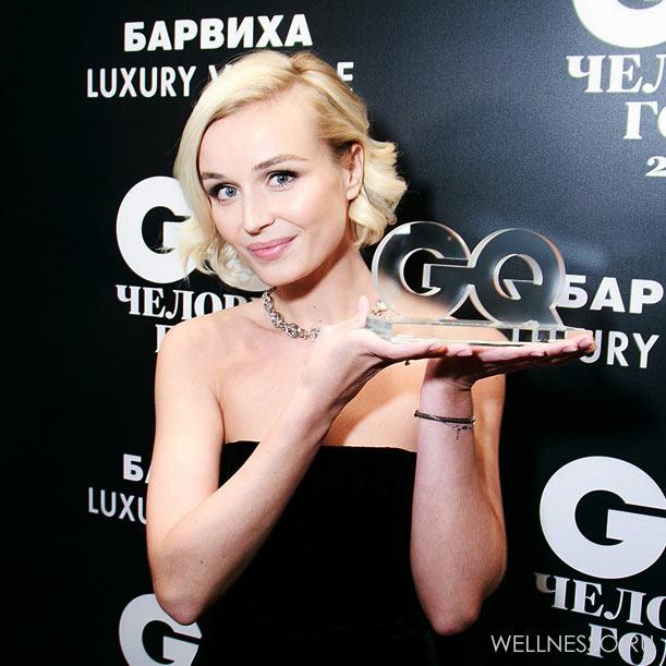 полина гагарина ожерелье на премии GQ 2015