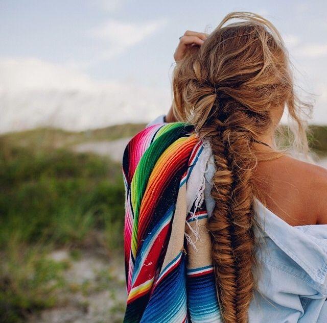 рыбий хвост на длинные волосы фото