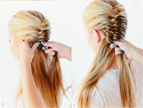 техника плетения косы фото