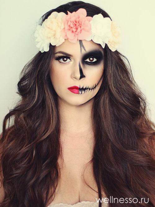 Halloween скелетон на половину