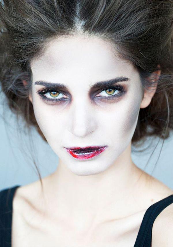 как сделать макияж зомби Хэллоуин пошагово