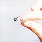 колечко корона серебряное с цирконием